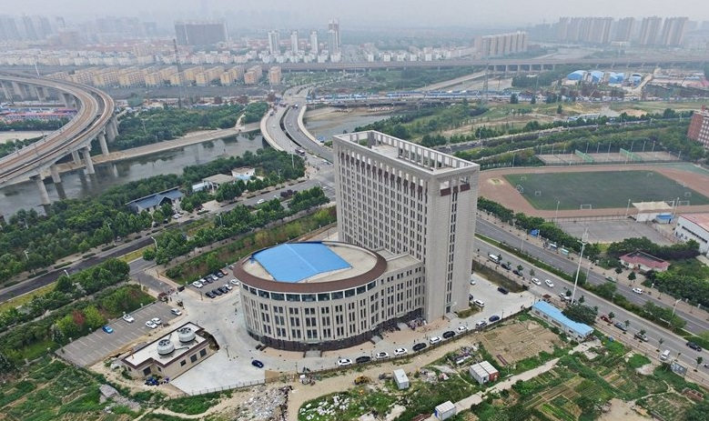 toilet bowl shape building in henan