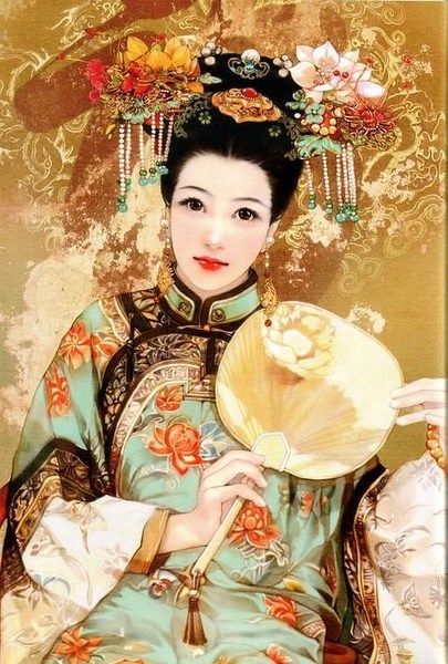 Manchu Women Dress And Accessories Female Dresses And